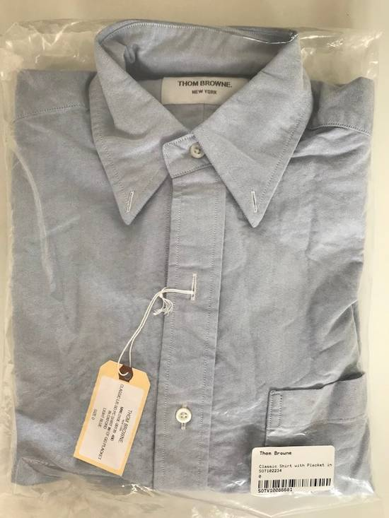 Thom Browne classic shirt with grosgrain placket in blue oxford Size US XS / EU 42 / 0 - 4