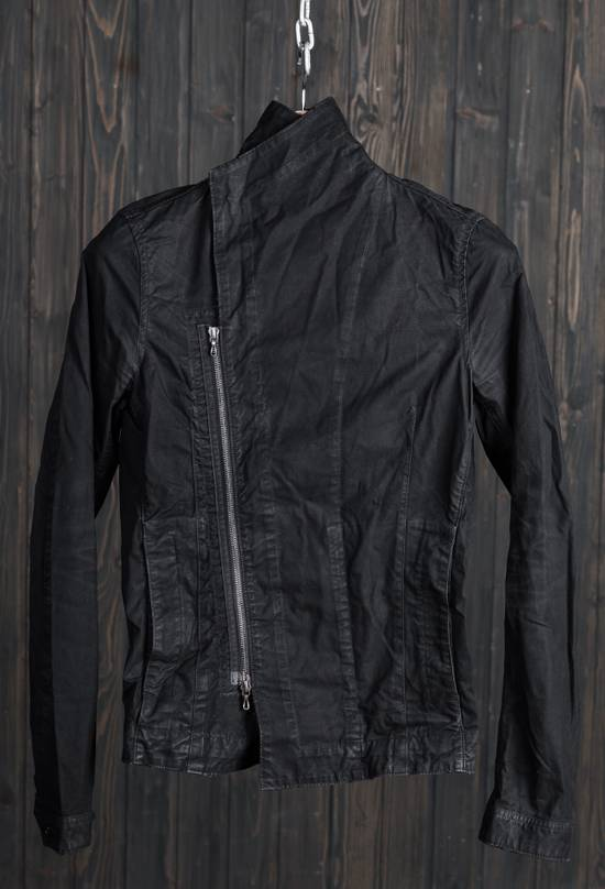 Julius high neck asymmetric zip waxed denim jacket Size US S / EU 44-46 / 1 - 12