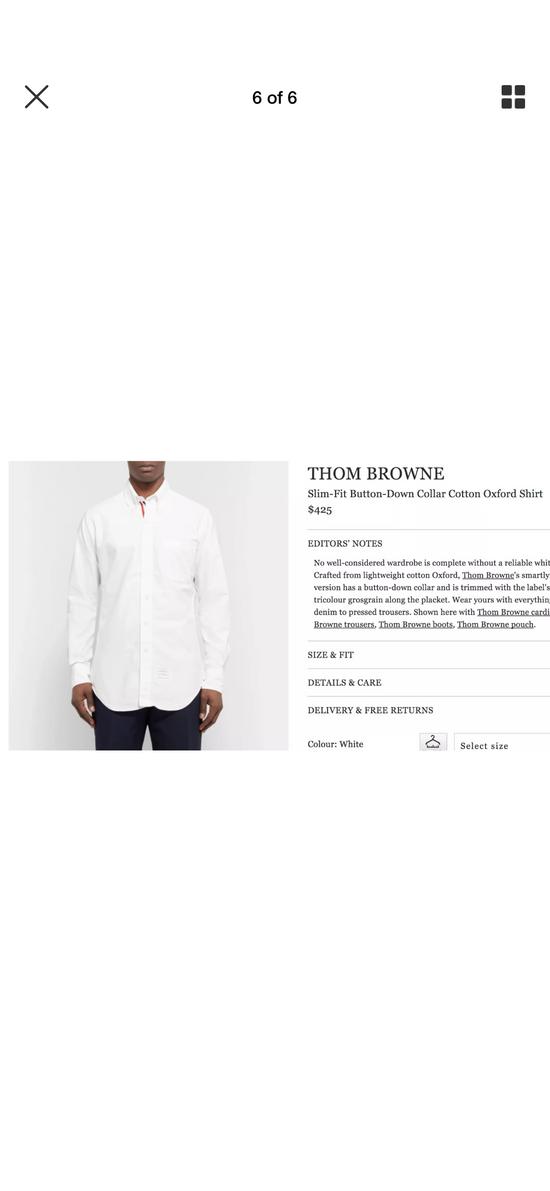 Thom Browne slit fit button down collar cotton oxford shirt Size US M / EU 48-50 / 2 - 6