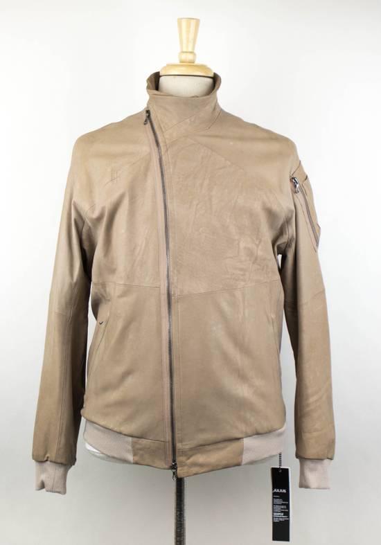 Julius 7 Men's Brown Lamb Skin Leather Zip-Up Jacket Size 3/M Size US M / EU 48-50 / 2