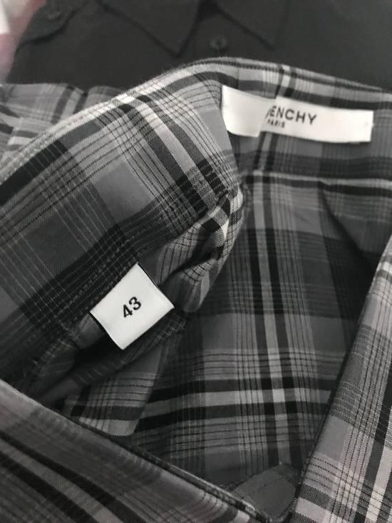 Givenchy Grey Plaid Stars Print Shirt Size US XL / EU 56 / 4 - 5