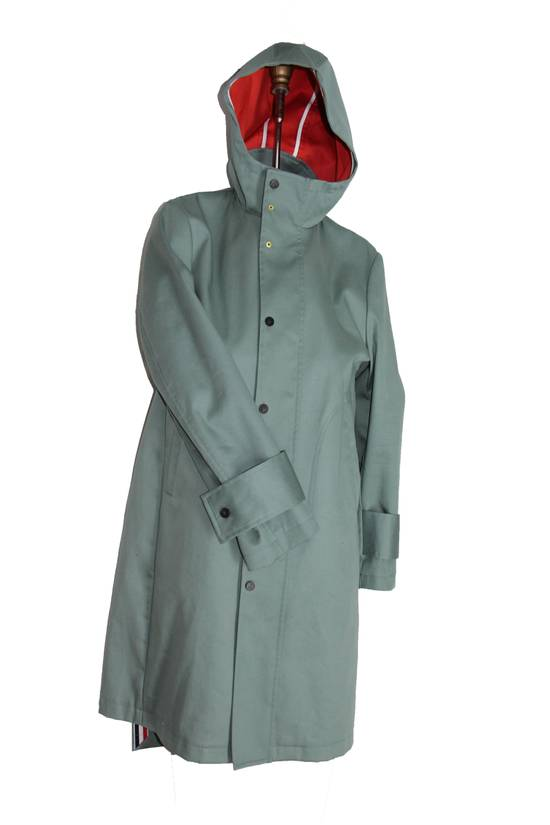 Thom Browne Men's Hood Snap Front Parka In Mackintosh Size US XS / EU 42 / 0