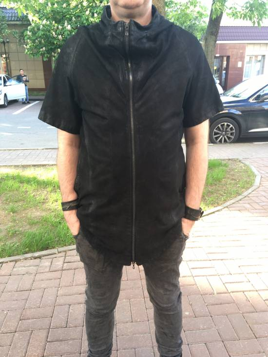 Julius Lamb Nubuck Leather Short Sleeve Jacket Size US L / EU 52-54 / 3