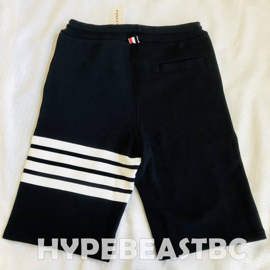 Thom Browne THOM BROWNE Classic Sweat Shorts 4-Bar Stripe Logo, TB Size 2, Navy, NWT, NO DROP ! Size US 32 / EU 48 - 6