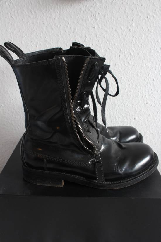 Balmain FW10 Campaign Patent Leather Ranger Boots Decarnin Size US 11 / EU 44 - 1