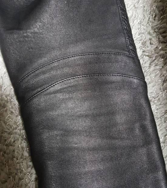 Balmain Leather Black Training Biker Size US 30 / EU 46 - 8
