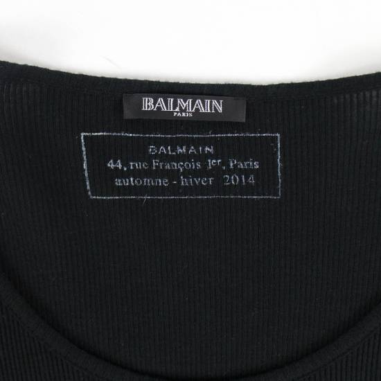 Balmain Black Cotton Ribbed Long Sleeve Crewneck T-Shirt Size XL Size US XL / EU 56 / 4 - 3