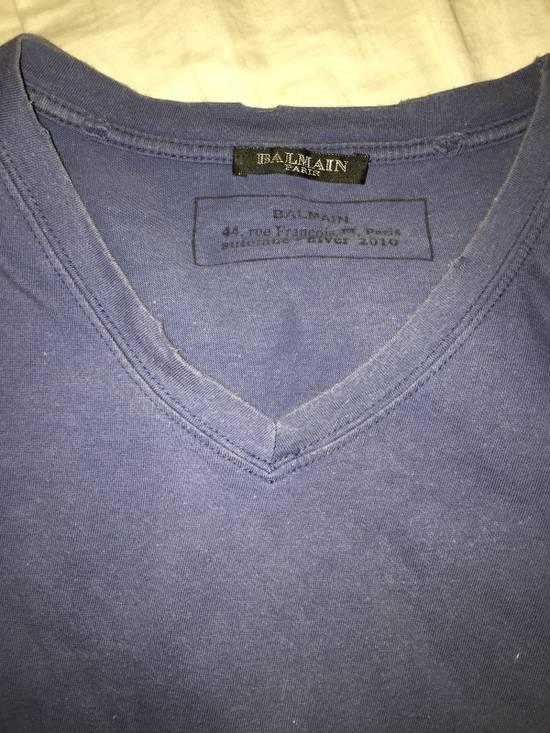 Balmain OG Balmain 2010 Decarnin blue V Neck Size US M / EU 48-50 / 2