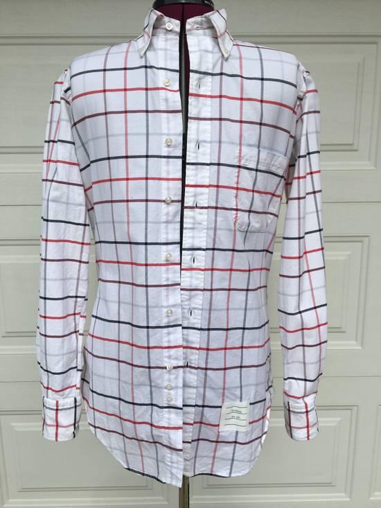 Thom Browne Red/Blue Windowpane Oxford Shirt L/S Size US S / EU 44-46 / 1 - 1