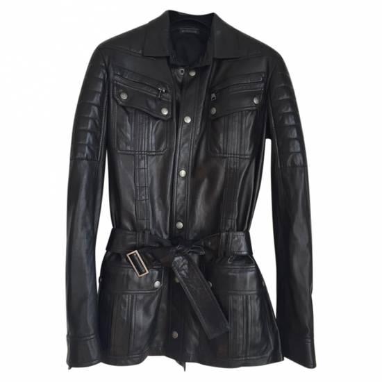 Balmain Balmain Black Leather Quilted Jacket Safari Biker Style SS13 *Very Rare* 48 Size US M / EU 48-50 / 2 - 2