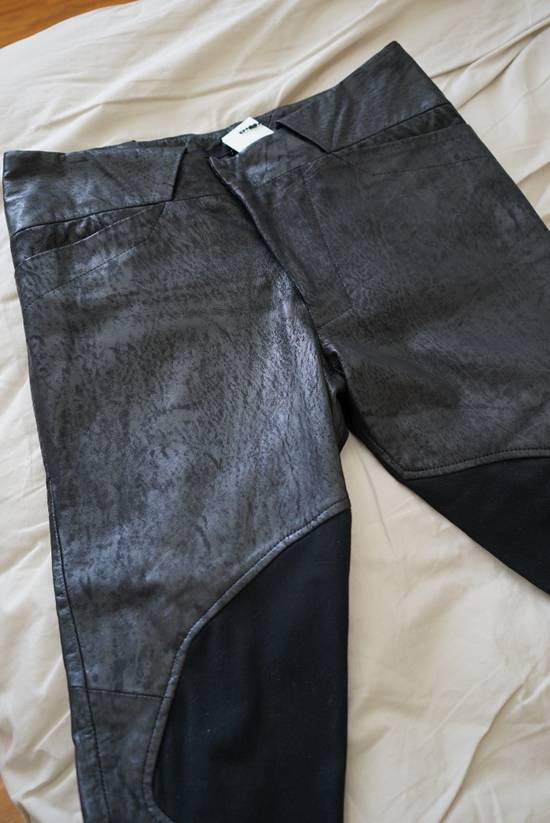 Julius Patterned Leather Racing Pants Size US 30 / EU 46 - 4