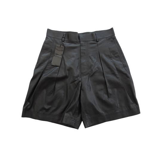 Givenchy F/W 14 Pleated Leather Shorts By Riccardo Tisci Size US 34 / EU 50