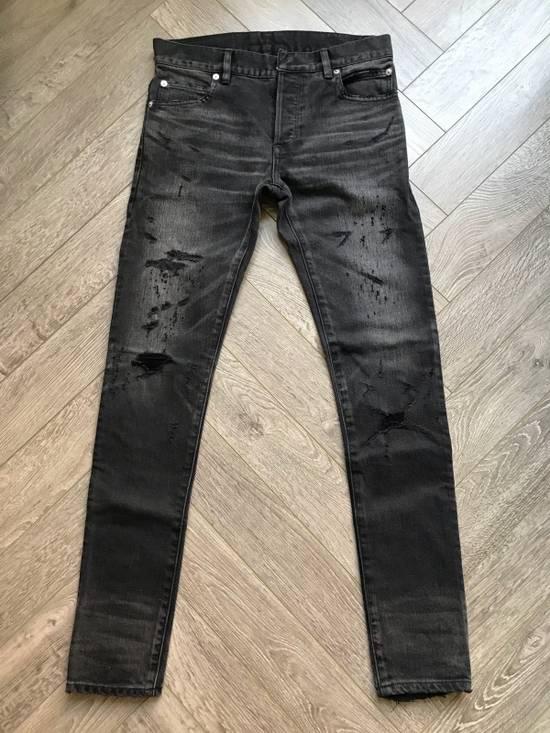 Balmain grey washed denim Size US 28 / EU 44 - 1