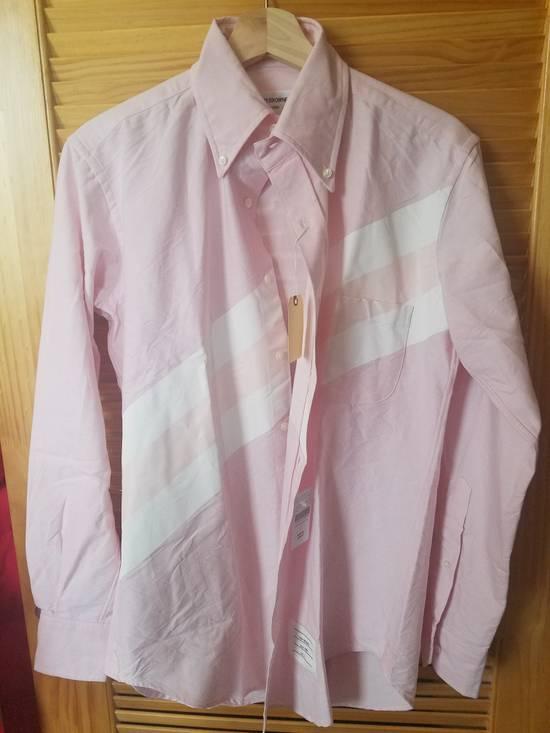 Thom Browne Pink Diagonal line Shirts SS17 Size US M / EU 48-50 / 2 - 1