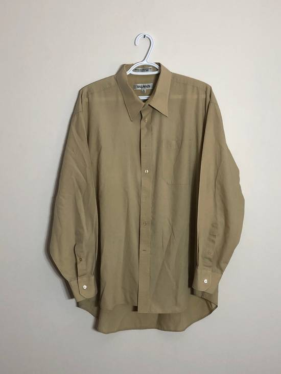 Balmain khaki button up Size US XL / EU 56 / 4