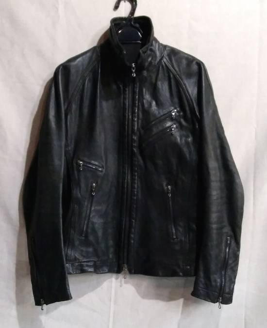 Julius Jut Neck Leather Jacket s/s08 Size US M / EU 48-50 / 2