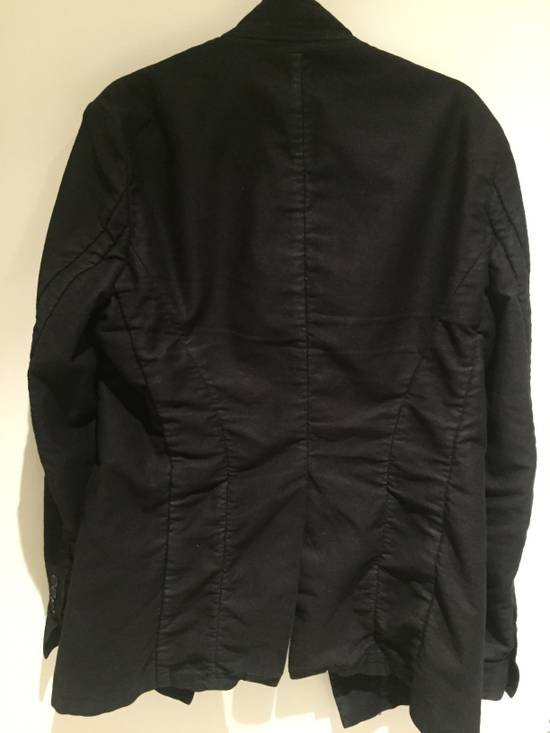 Julius FW13-14 'CRACK' black waxed edge moleskin blazer Size 46R - 2