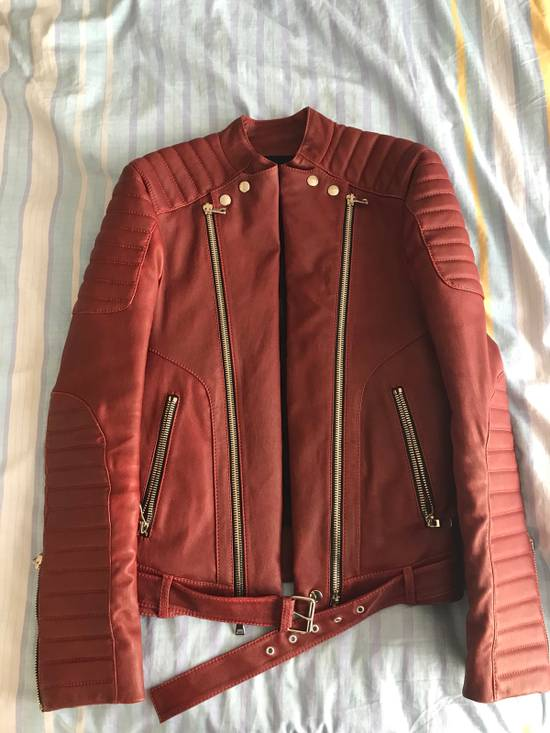 Balmain Balmain Red Leather Jacket Size It46 Size US S / EU 44-46 / 1