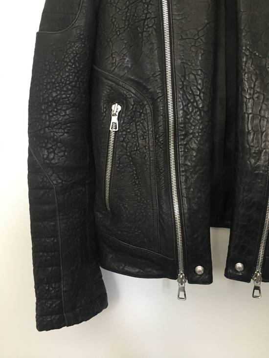 Balmain BALMAIN HM BLACK LEATHER JACKET Size US M / EU 48-50 / 2 - 1