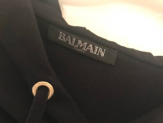 Balmain Black Gold Crest Embroidered Hoodie Size US S / EU 44-46 / 1 - 5