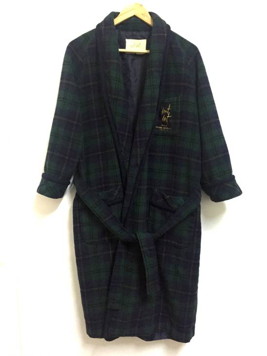 Balmain Vintage 90s Vent Vent PAR Pierre Balmain sleepwear wool plaid flannel in cupra lining japan. Size 38S