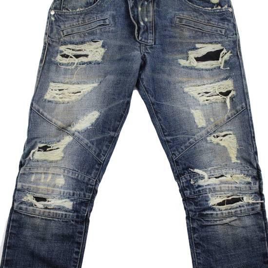 Balmain Pierre Balmain Distressed Moto Biker Jeans Size 32 Made in Italy Size US 32 / EU 48 - 6