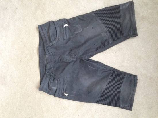 Balmain Distressed Black Shorts Size US 34 / EU 50
