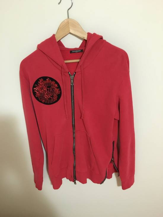 Balmain red crest hoodie Size US S / EU 44-46 / 1