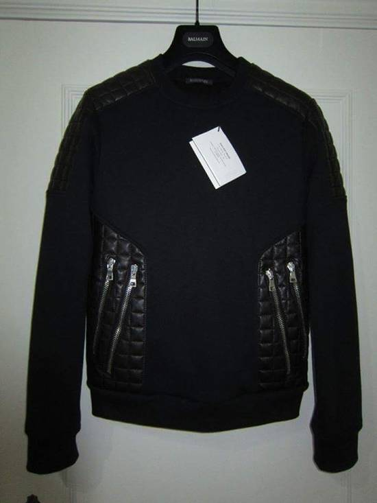 Balmain Balmain quilted leather and cotton sweatshirt Size US S / EU 44-46 / 1
