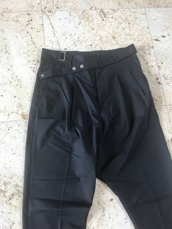 Givenchy Belted & Pleated Casual Suit Pants In Black Size US 28 / EU 44 - 3