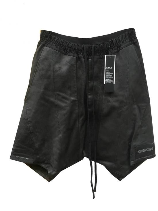 Julius LAST DROP! Size 1 - XS - Julius Black Drop Crotch Leather Shorts - SS16 - $1300 Retail Size US 28 / EU 44