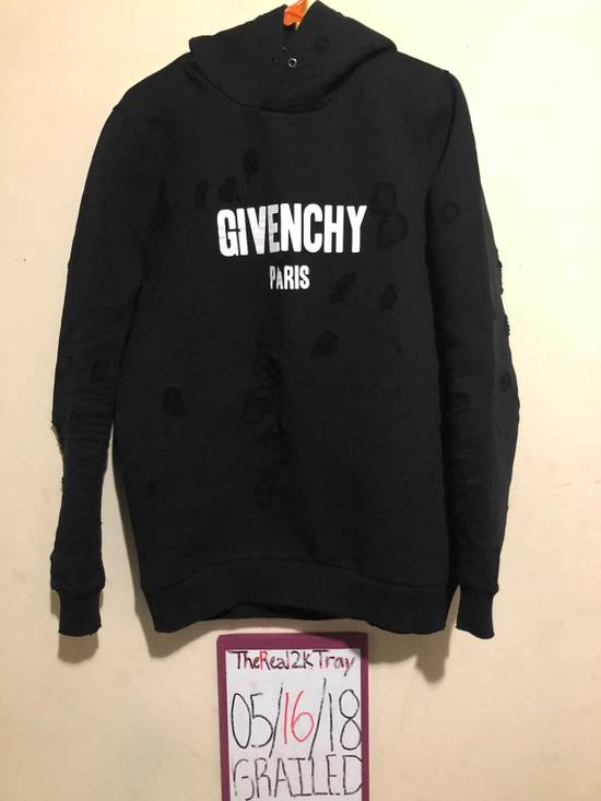 Givenchy Cuban Destroyed Logo Cotton Hoodie Size US XS / EU 42 / 0 - 7