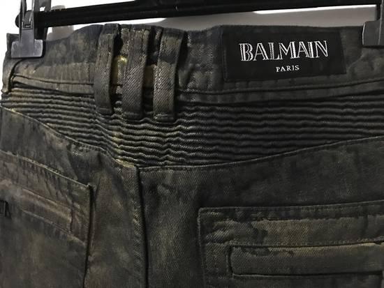 Balmain Dark W/Gold Wax biker Size US 30 / EU 46 - 2