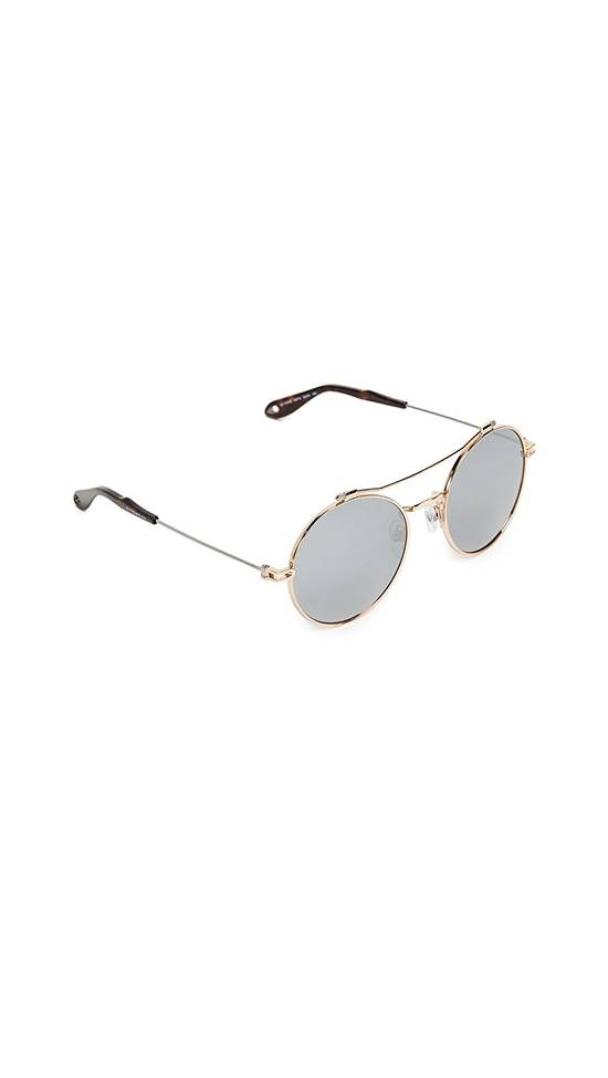 Givenchy NEW Givenchy 7079/S Gold Metal Silver Mirrored Round Sunglasses Size ONE SIZE - 5