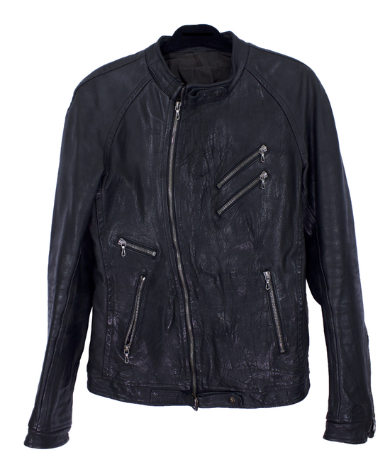 Julius Black Buffalo Leather Jacket SS08 Size US M / EU 48-50 / 2