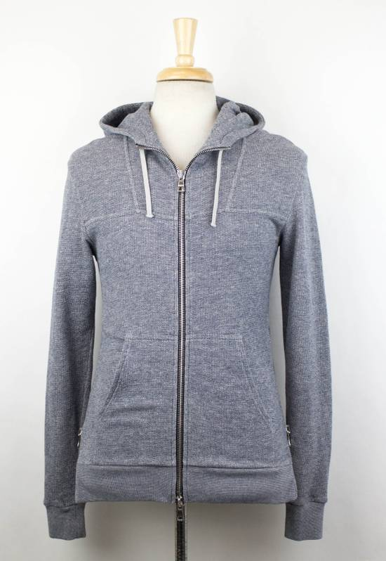 Balmain Men's Gray Cotton Blend Zip-Up Hooded Sweater Size XS Size US XS / EU 42 / 0