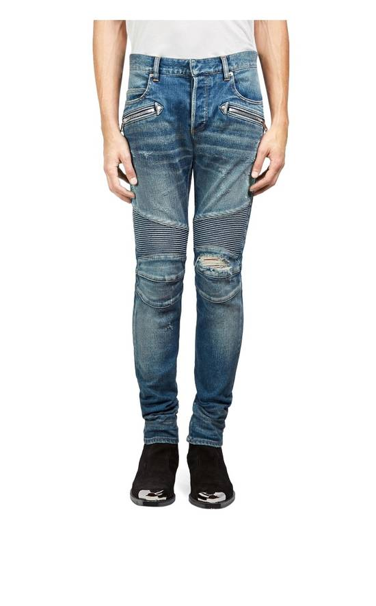 Balmain Balmain Moto Distressed Jeans Size US 33