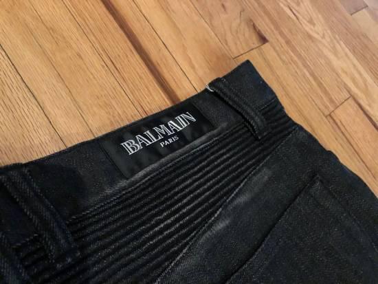 Balmain Balmain Biker Jeans Dark Grey Distressed Size US 31 - 5