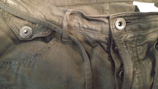 Julius SS11 Paneled Waxed Slim Jeans (sz 2, fits 31-32) Size US 32 / EU 48 - 4