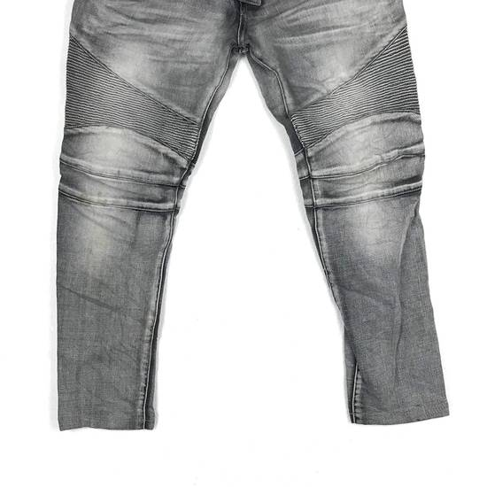 Balmain Rare! Distressed Balmain Biker Denim Jean Trouser Skinny Luxury Designer Size US 32 / EU 48 - 4