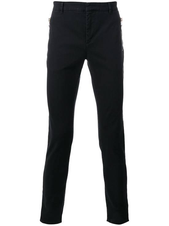 Balmain Black Zip Detail Chinos Size US 32 / EU 48 - 1