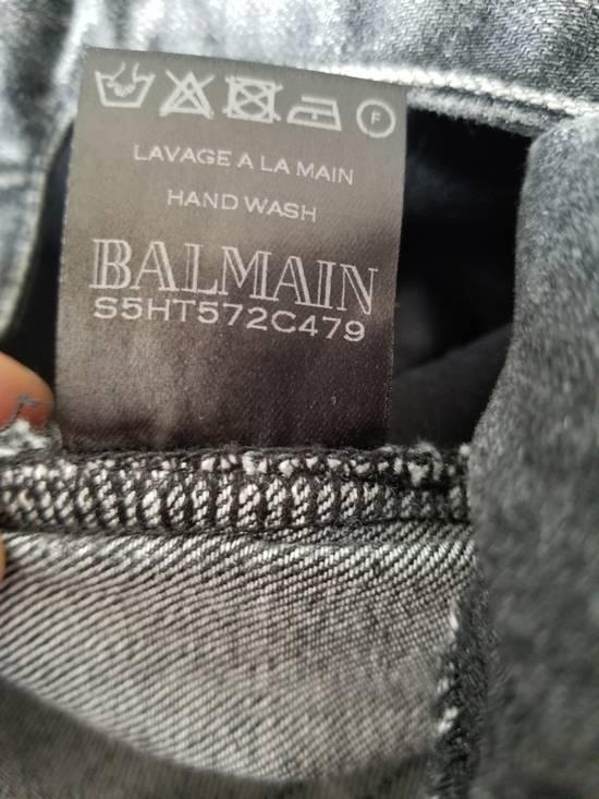 Balmain Balmain Biker Grey Washed Jeans Size 29 Size US 29 - 9