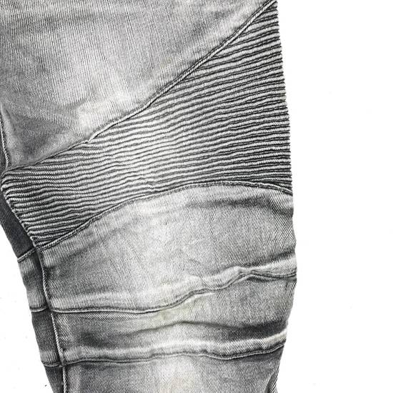 Balmain Rare! Distressed Balmain Biker Denim Jean Trouser Skinny Luxury Designer Size US 32 / EU 48 - 11