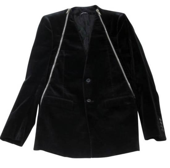 Givenchy Givenchy FW11 Black Velvet Zip Blazer Size 38R - 3