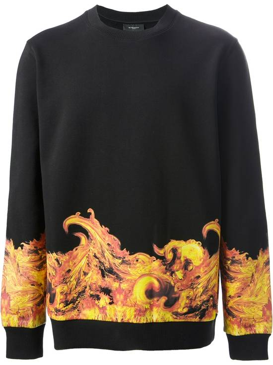 Givenchy Flame Print Sweater Size US L / EU 52-54 / 3 - 1