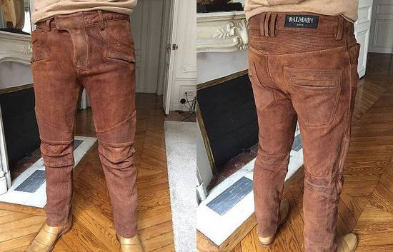 Balmain 2014 leather biker pants Size US 30 / EU 46 - 1
