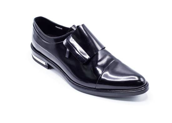 Givenchy Givenchy Mens Richelieu Metal Heel Black Leather Oxfords Size US 11 / EU 44