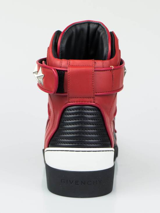 Givenchy Red Leather Hi-Top Fashion Sneakers Size US 7 / EU 40 - 3