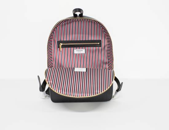 Thom Browne Classic backpack in black pebble grain leather Size ONE SIZE - 3