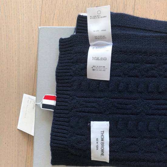 Thom Browne Oblong Cashmere Navy Blue Scarves Size ONE SIZE - 2